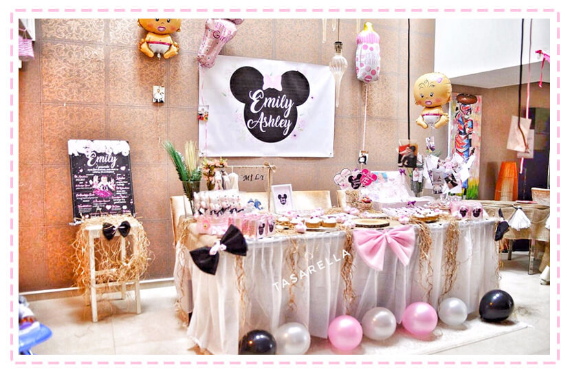 minnie mouse parti, babyshower