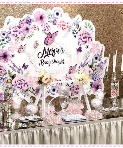Çiçek Kelebek Temalı Parti Konsepti