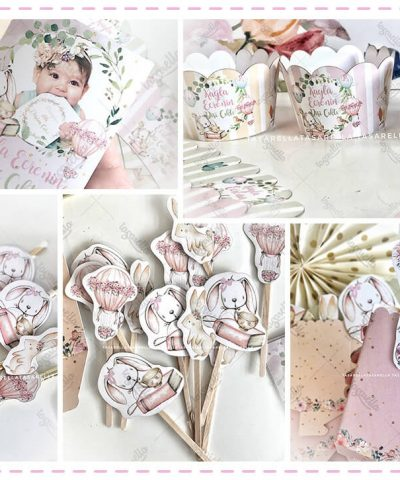 Balonlu Tavşan Temalı Parti Konsepti