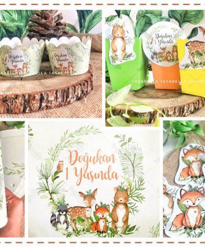 Woodland Animals Parti Konsepti