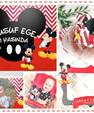 Mickey Mouse Temalı Parti Konsepti
